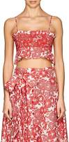 Lisa Marie Fernandez Women's Selena Floral Linen Crop Top