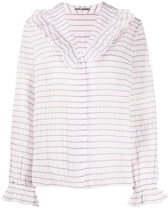 ANAÏS JOURDEN Lolita striped ruffled blouse