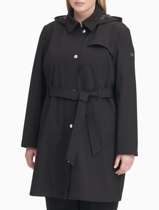 Calvin Klein Plus Size Soft Shell Trench Coat
