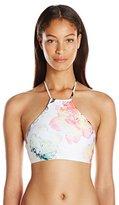 Pilyq Women's Summer Fleur Charlotte Halter Bikini Top
