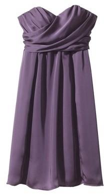 Household Essentials Women's Satin Strapless Bridesmaid Dress Fashion Colors - TEVOLIO