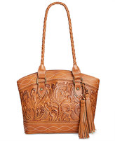 Patricia Nash Burnished Tooled Zorita Satchel