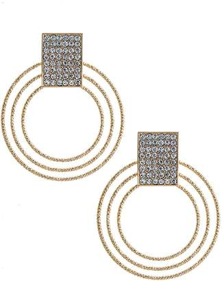 Fashion Bella Crystal Muti Hoop Earrings