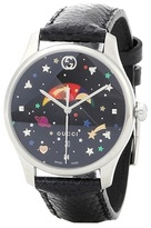 Gucci G-Timeless stainless steel leather watch