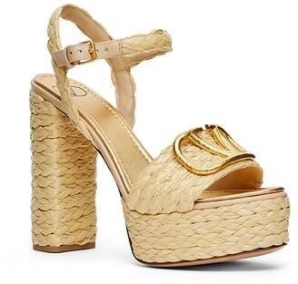 Valentino VLOGO Woven Platform Sandal