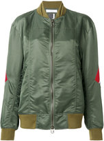 Facetasm stripe detail bomber jacket