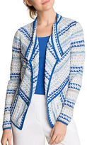 Nic+Zoe Plus Prism Stitched Cardigan