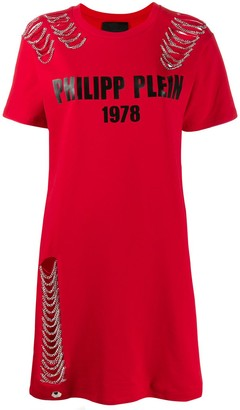 Philipp Plein 1978 Chain Dress