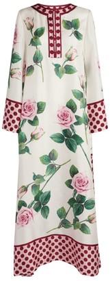Dolce & Gabbana Rose Print Kaftan Dress