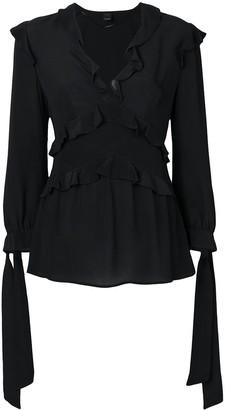 Pinko tied cuff ruffle blouse