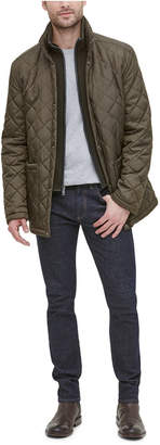 Cole Haan Men Diamond Quilted Jacket with Knit Bib