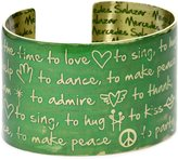 """Mercedes Salazar Enchanted Forest"""" Engraved and Resined Hand made Cuff Now Is The Time To"""