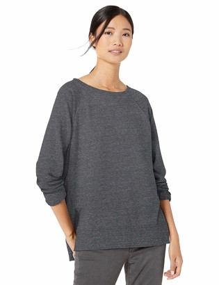 Goodthreads Amazon Brand Women's Modal Fleece High-Low Sweatshirt