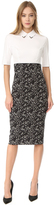 Lela Rose Fitted Sheath Dress