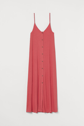 H&M Button-front ribbed Dress