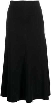 Joseph Knitted Flared Midi Skirt
