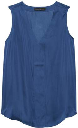Banana Republic Soft Satin Sleeveless V-Neck Top