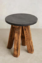 Anthropologie Slate Top Side Table