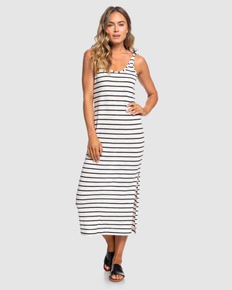 Roxy Womens Bella Surfing Stripes Maxi Tank Dress