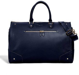 hook + ALBERT Hook & Albert Womens Navy Leather Garment Weekender Bag
