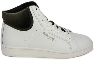 Roberto Cavalli Sport Leather High-Top Sneakers