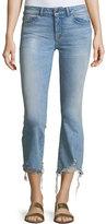 DL1961 Lara Glacier Crop Flare-Leg Distressed-Hem Jeans