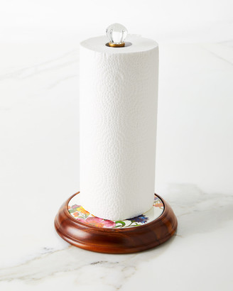 Mackenzie Childs Flower Market Wood Paper Towel Holder