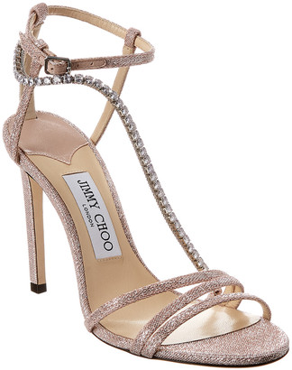 Jimmy Choo Thaia 100 Metallic Sandal