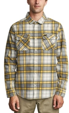 RVCA Men's Panhandle Regular-Fit Plaid Flannel Shirt
