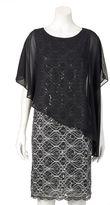 Ronni Nicole Women's Sequin Lace Popover Dress