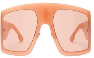 Christian Dior Diorsolight1 Oversized Acetate Sunglasses - Womens - Pink