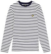 Lyle & Scott Breton Stripe Shirt, Off White