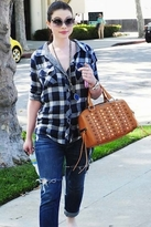 Kendra Plaid Shirt in Navy Check