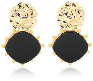 PEET DULLAERT Hafa 14kt gold-plated earrings with onyx