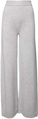 Max Mara Straight Leg Wool Knit Sweatpants