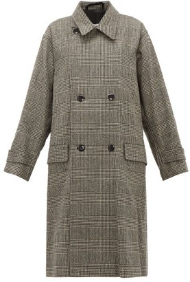 Chimala Double-breasted Wool-blend Overcoat - Womens - Dark Grey
