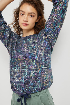 Eva Franco Jackson Shimmer Sweatshirt By in Blue Size S