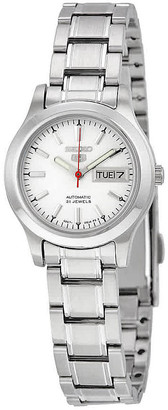 Seiko 5 Automatic Silver Dial Stainless Steel Ladies Watch SYMD87