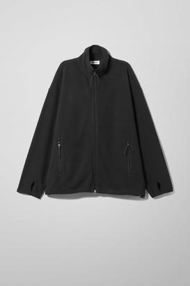 Weekday Cecilie Micro Fleece Jacket - Black