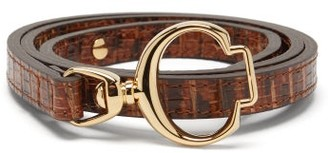 Chloé C-buckle Leather Belt - Brown