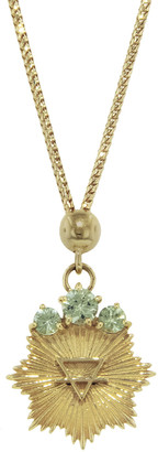 Foundrae Dotted Choker Earth Element Necklace - Yellow Gold