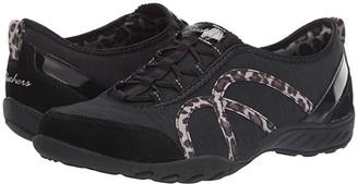 Skechers Breathe-Easy - Missing Lynx (Black Leopard) Women's Shoes