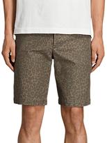 AllSaints Kanzi Leopard Print Shorts, Brown