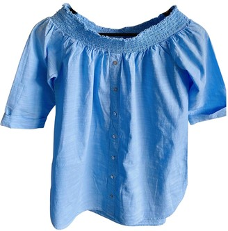 River Island Blue Cotton Top for Women