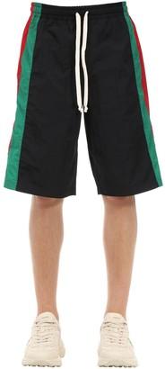 Gucci Waterproof Nylon Track Shorts