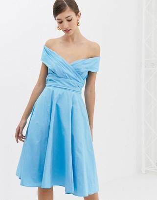 Closet London Closet Cross Over Paneled Dress