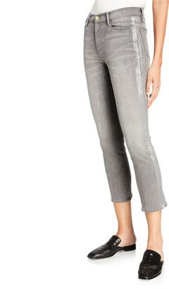 Frame Le High Straight Foil Tux Jeans