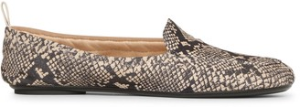 Gianvito Rossi Snake print suede loafers