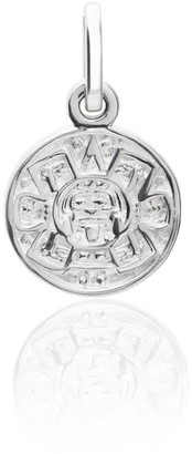 Tane Exquisitely Detailed Aztec Calendar Charm Handmade In Sterling Silver