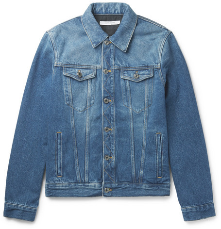 Givenchy Slim-Fit Logo-Appliquéd Denim Jacket